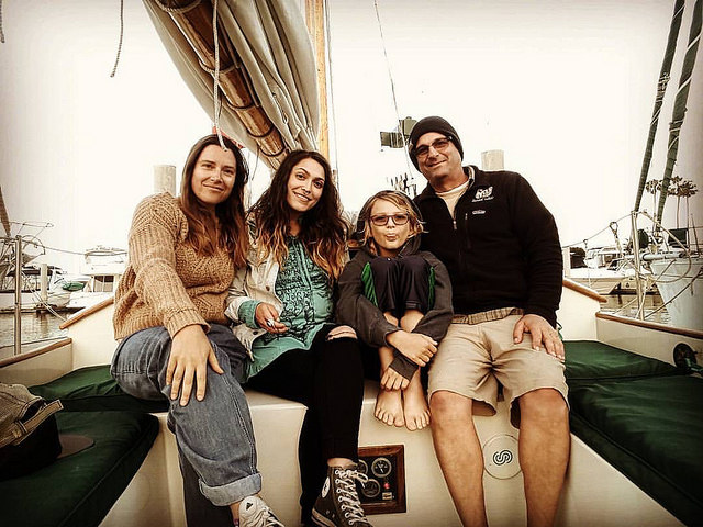 Captain Phil with 2 outta 3 kids, plus his First (and only!) Mate