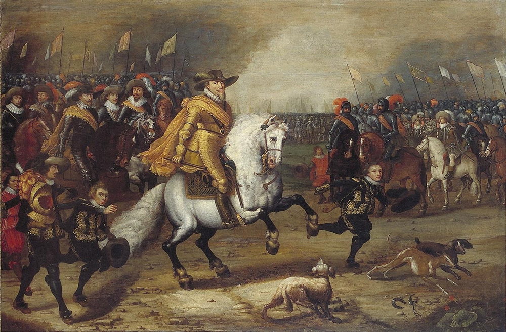 The striking individual centre is Maurice, Prince of Orange and inheritor of that critical but curious Dutch House. Maurice would revolutionise military tactics, and would take the fight to Spain like never before.