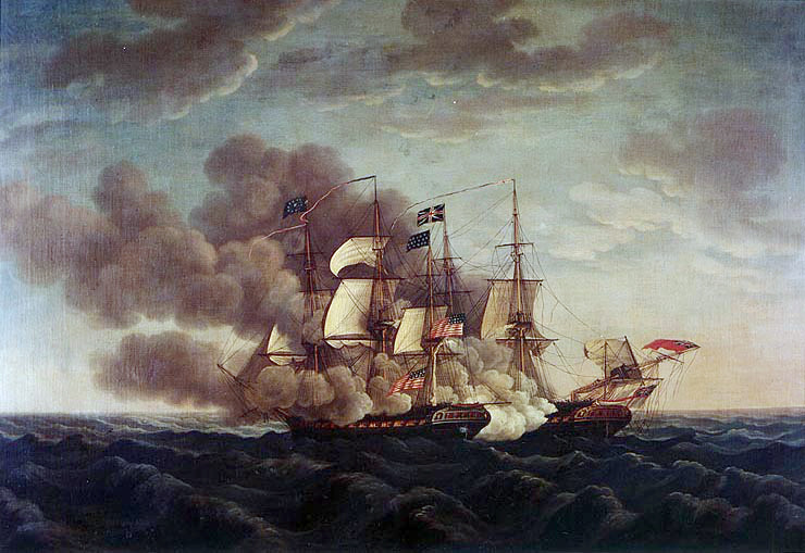 The USS Constitution takes on the HMS Guerriere