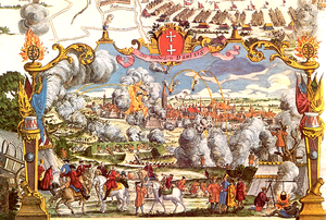 The 1734 Siege of Danzig by Russo-Saxon troops. Someone was happy about this, and you can bet it wasn't the Poles! Courtesy: Wikipedia/Public Domain.