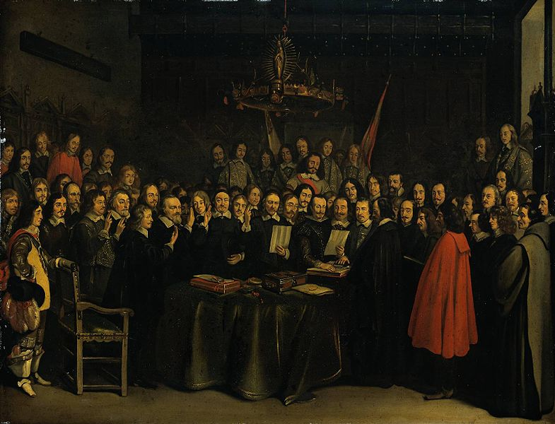 Westphalia's peace ventures brought us into a new era of European relations. Sort of. One thing 1648 did do was bring about peace between Spain and the Dutch, with result that England (the Commonwealth of the British Isles) became suddenly important.