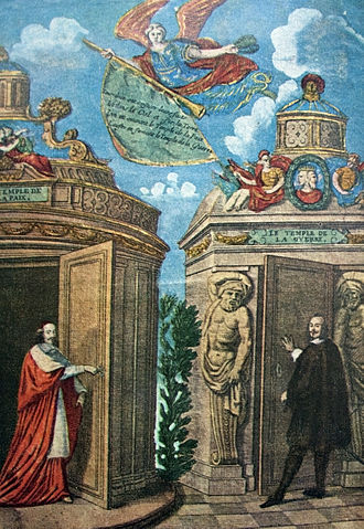 Despite its name, we actually begin with an epilogue on the Franco-Spanish war, which had been inherited from the Thirty Years War of old. Here we see Cardinal Mazarin, opening the Temple of Peace and bringing the Peace of the Pyrenees about.
