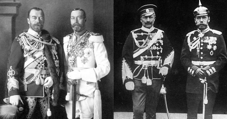 It seemed plainly unreasonable that the three cousins and grandsons of Queen Victoria all could not cooperate. Imperialism, mutual distrust and a failure to communicate made war both necessary and inevitable, at least to the Emperor, the Kaiser and the King.