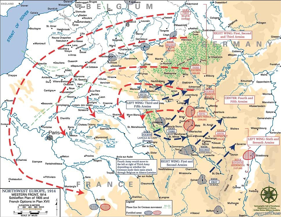 The meticulously laid plans for the Central Powers, and Germany in particular, necessitated that she strike France before an invasion of Russia could be affected. This rigid plan would result in a catastrophic foreign policy, as Germany was welded to the false impressions of its destiny.