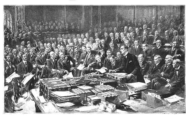 Grey's speech to the House of Commons on 3 August 1914 was chock full of representations to Britain's allies and the unraveling situation on the continent. It was also chock full of lies; Grey was in fact a minority among the British people and the government, and only very recently did the government decide to intervene. This was mostly thanks to the Belgian issue, which would be learned of only later in the evening of 3rd August, but until then the interventionists were reeling in spite of Grey's appeal.