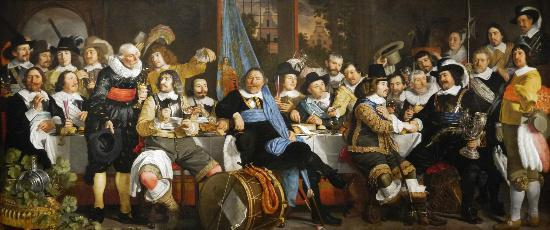 Though not technically part of the Peace of Westphalia, having sorted their affairs out by May rather than October like the French, Swedes and Imperials, the Dutch were quote capable of throwing their own banquet to mark the end of their own conflict with Spain - the Eighty Years War. Credit triadvisor.com