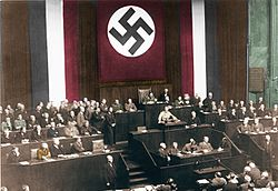The Enabling Act is passed into Reichstag law; 24 March 1933.