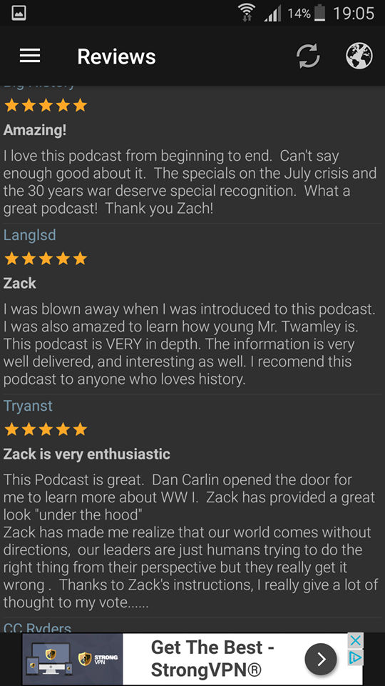 If every single listener reviewed their favourite podcast, imagine how happy the history podcasting world would be?!