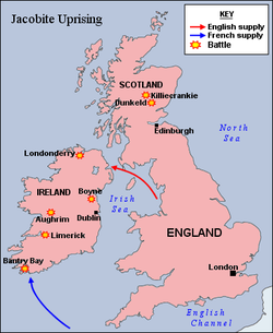 The British Isles, another key front of the war, particularly after the events of 1688 and the Williamite Wars that followed.