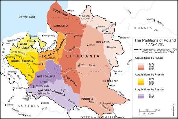 And 100 years after Sobieski's death it looked like this. The task of the Sobieski bio is to set the scene for why this terrible transition of power occurred. The task of  Poland Is Not Yet Lost  is to tell that story.