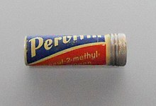 Pervitin, that innocent looking tube of meth tablets which were widely available before and during the Nazi regime.