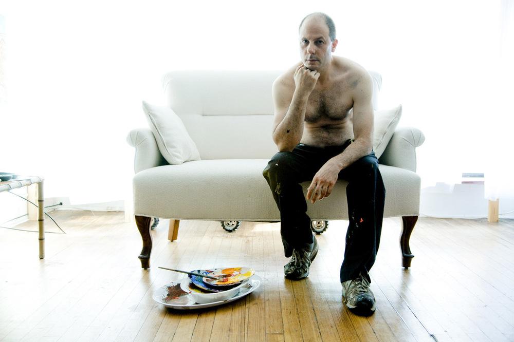 Artist Paul Fortunato, in his studio.