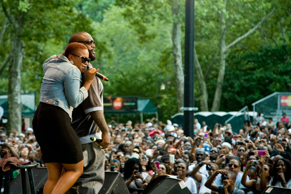 Chrisette Michelle and Rick Ross