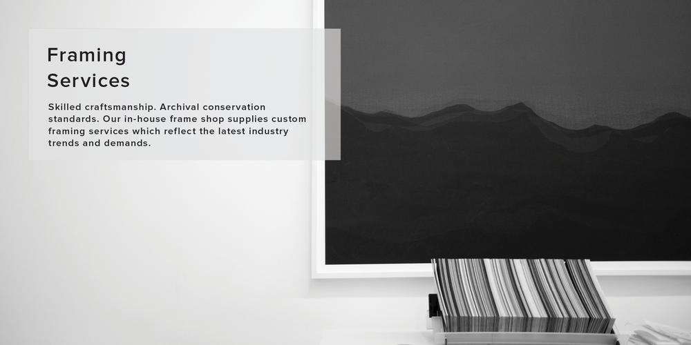 Framing — Mana Fine Arts