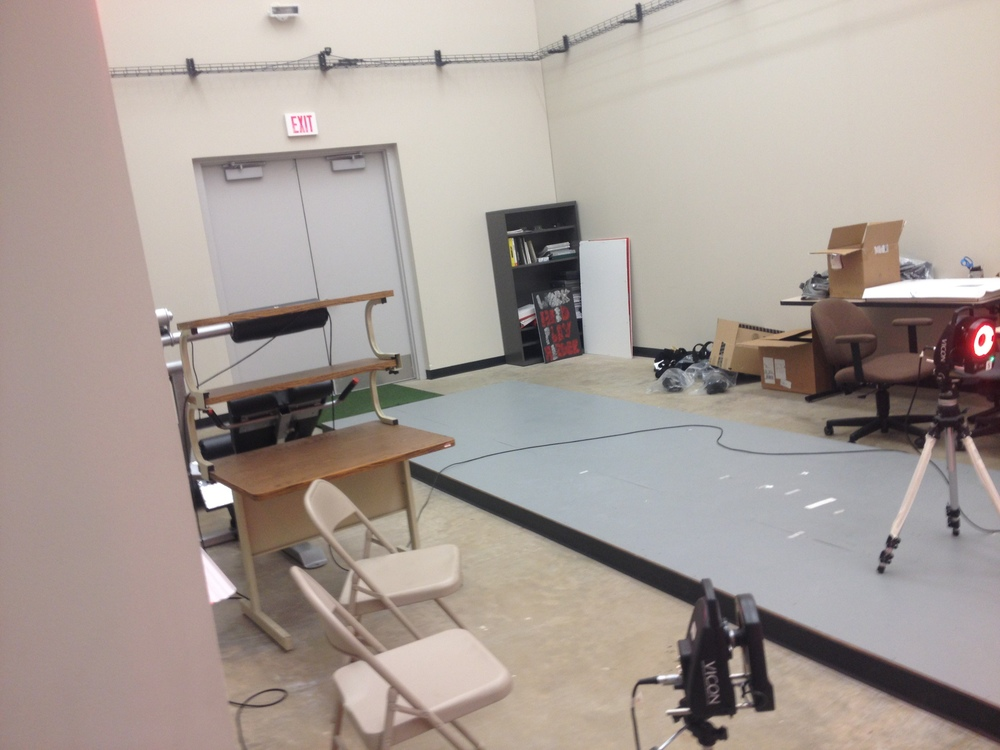 The Biomechanics Lab complete with Force Plate, High Speed Cameras, Walkway and Monitors