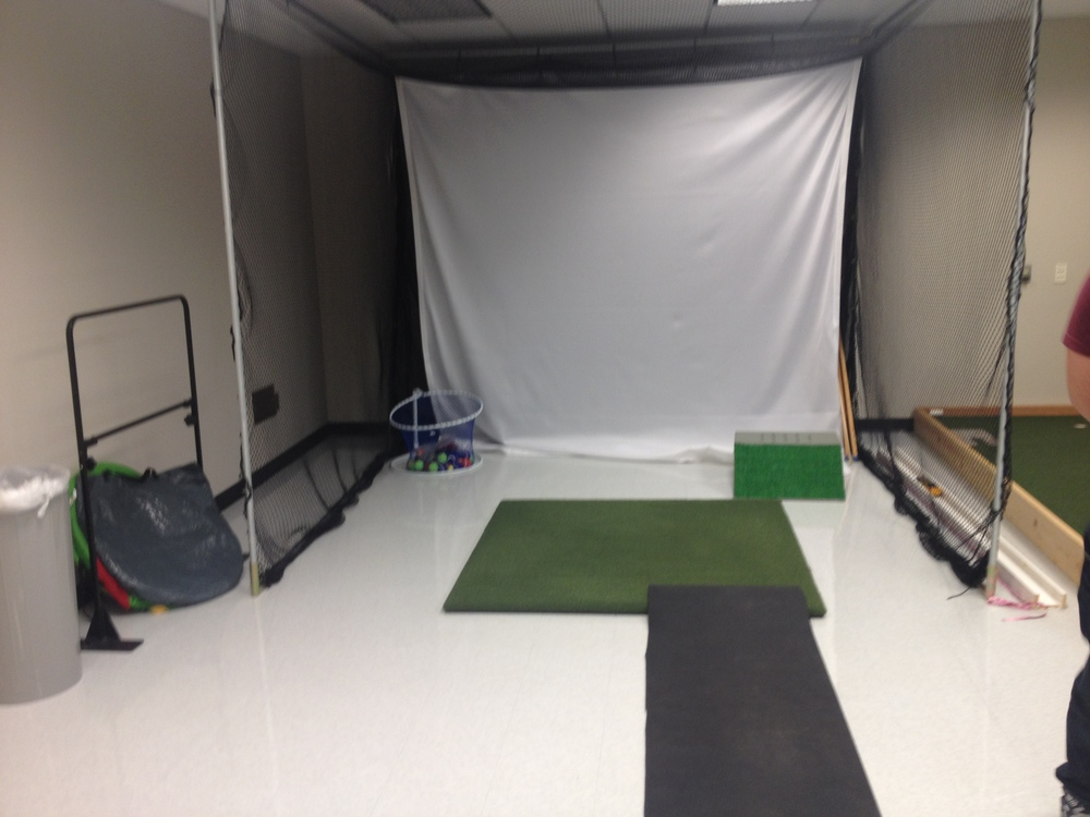 Another feature of the Psychology Lab was actually a golf practice area
