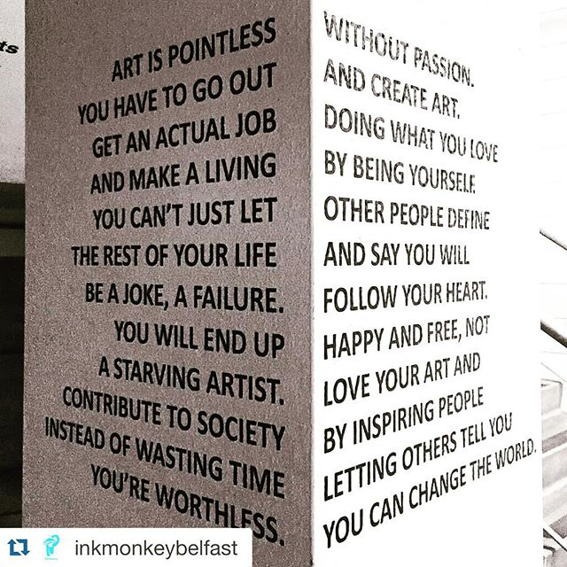 love this! Repost from @inkmonkeybelfast #BBCGetCreative #artsmatterNI #art #creativity