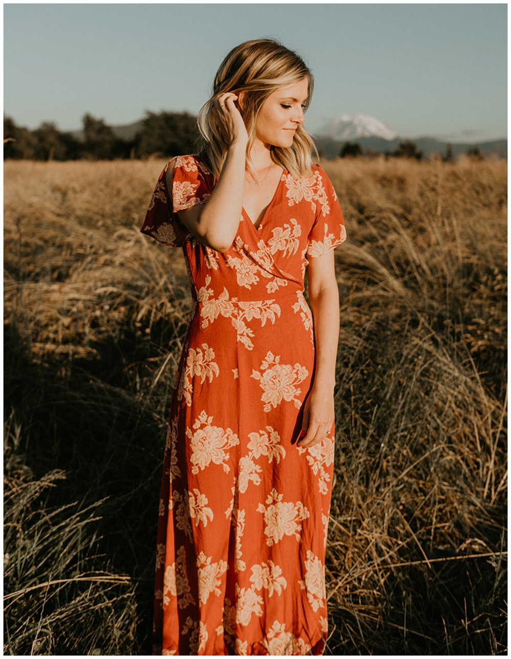 boho dress engagement session