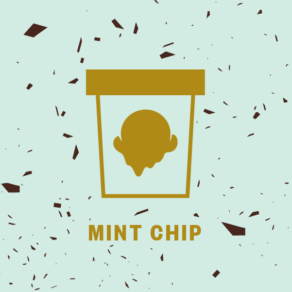 Mint Chip Pint Illustration