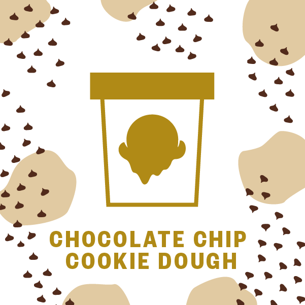 Chocolate Chip Cookie Dough Pint Illustration