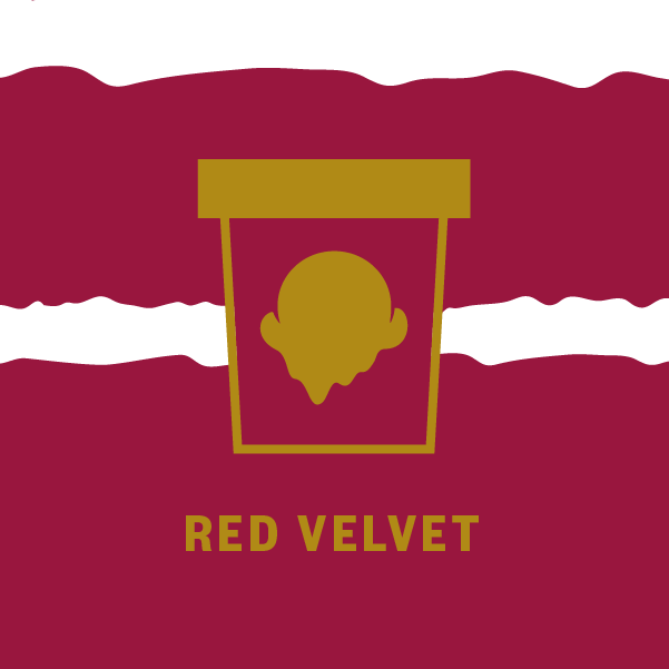 Red Velvet Pint Illustration