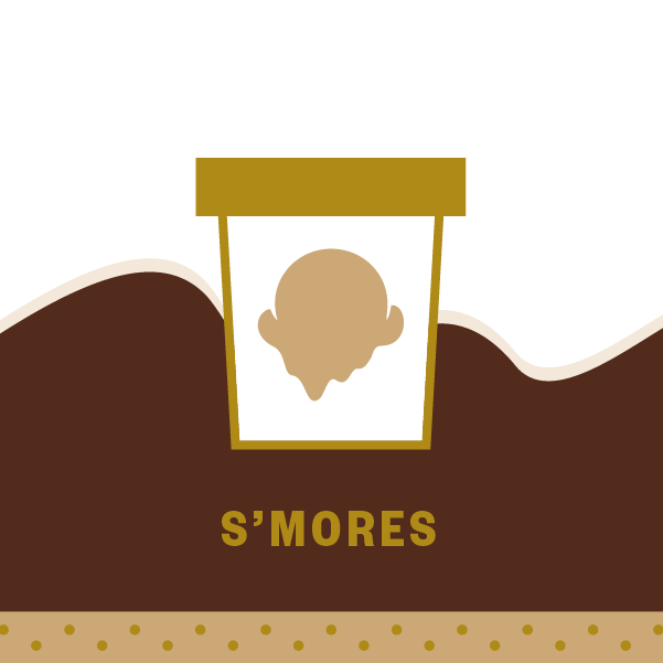 S'mores Pint Illustration