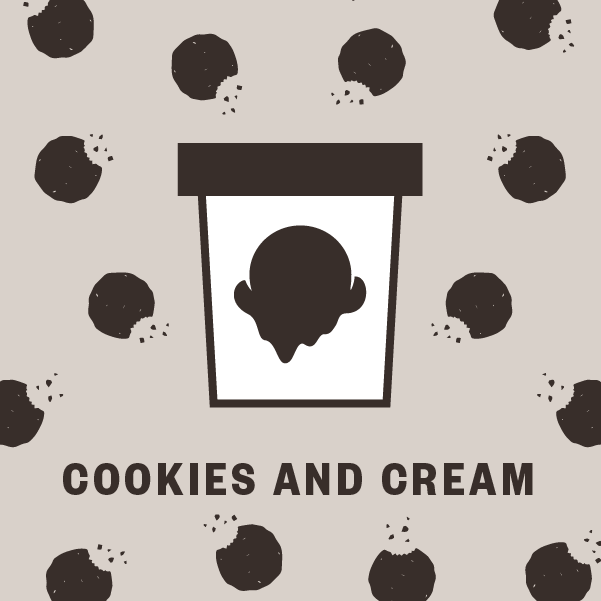 Cookies and Cream Pint Illustration