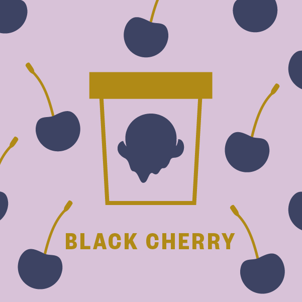 Black Cherry Pint Illustration