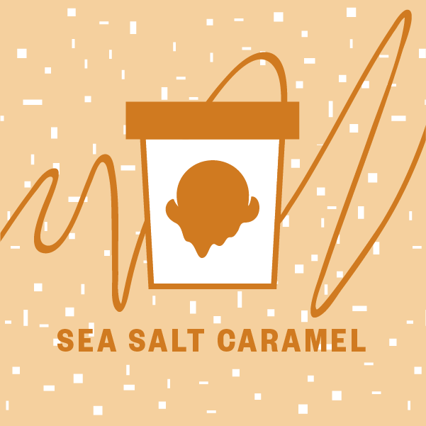 Sea Salt Caramel Pint Illustration