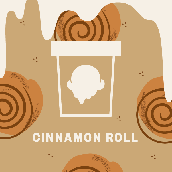 Cinnamon Roll Pint Illustration
