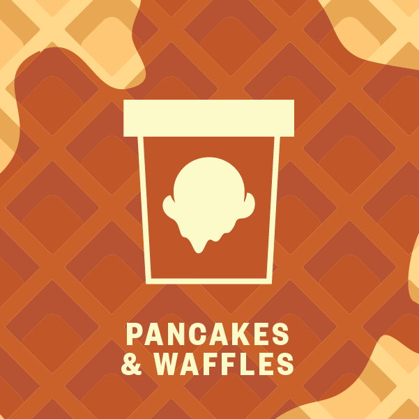Pancakes and Waffles Pint Illustration