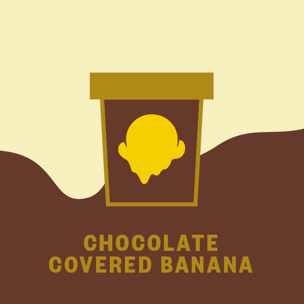 Chocolate Covered Banana Pint Illustration