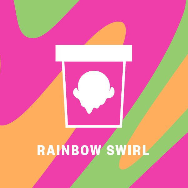 Rainbow Swirl Pint Illustration