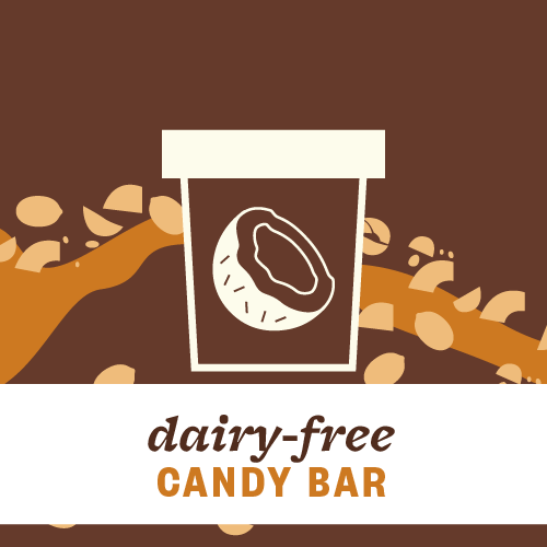Dairy-Free Candy Bar Pint Illustration