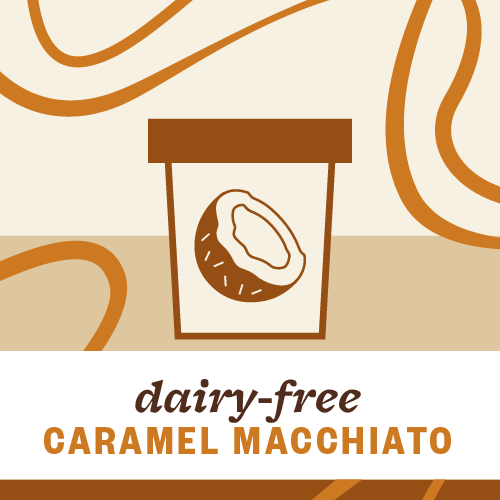 Dairy-Free Caramel Macchiato Pint Illustration