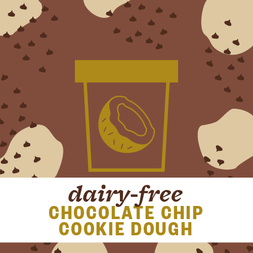 Dairy-Free Chocolate Chip Cookie Dough Pint Illustration