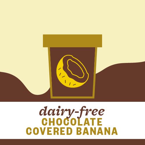 Dairy-Free Chocolate Covered Banana Pint Illustration