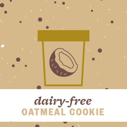 Dairy-Free Oatmeal Cookie Pint Illustration