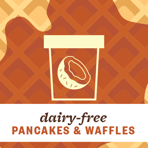 Dairy-Free Pancakes and Waffles Pint Illustration
