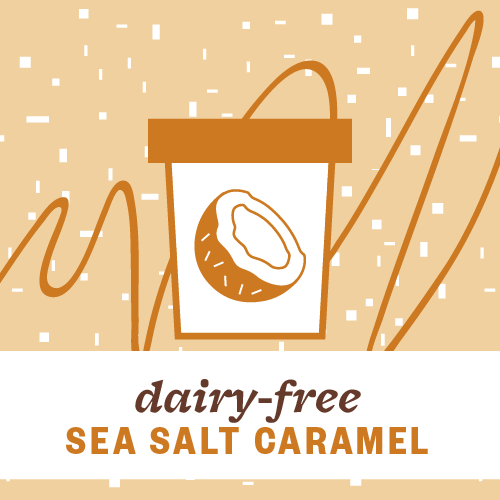 Dairy-Free Sea Salt Caramel Pint Illustration
