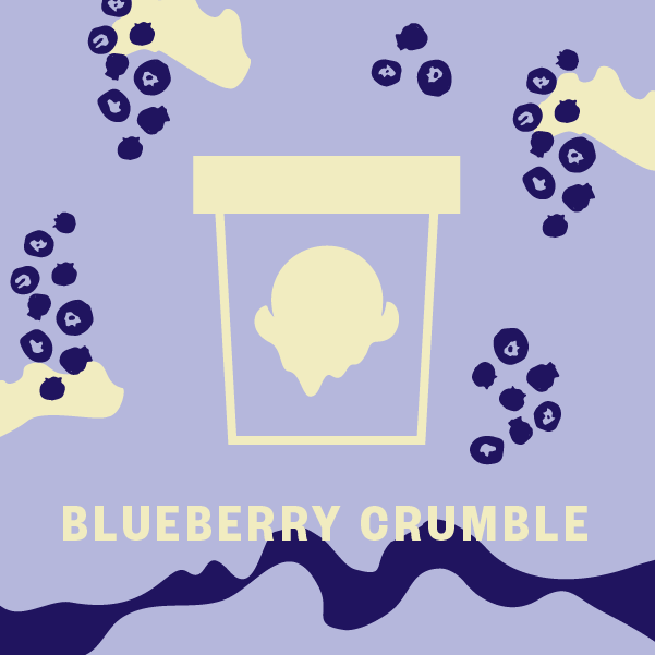 Blueberry Crumble Pint Illustration