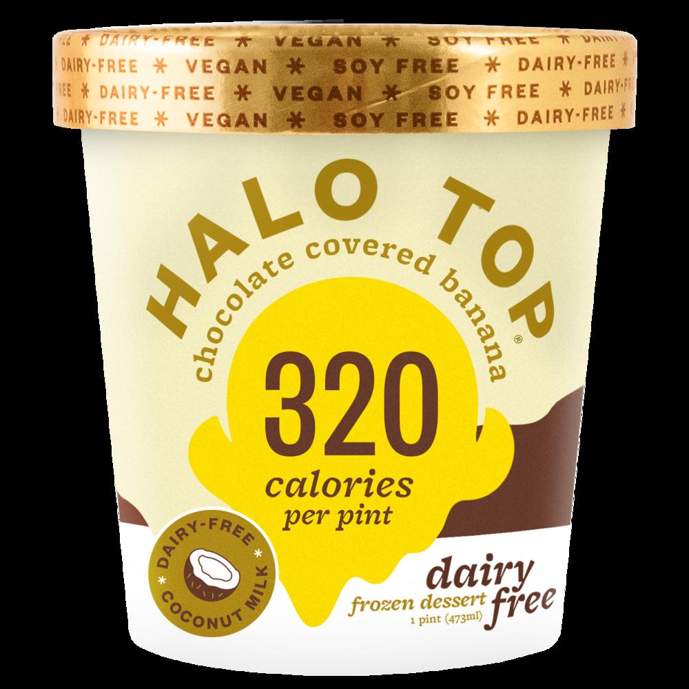 dairy-free chocolate covered banana pint