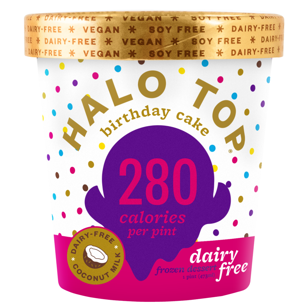 dairy-free birthday cake pint