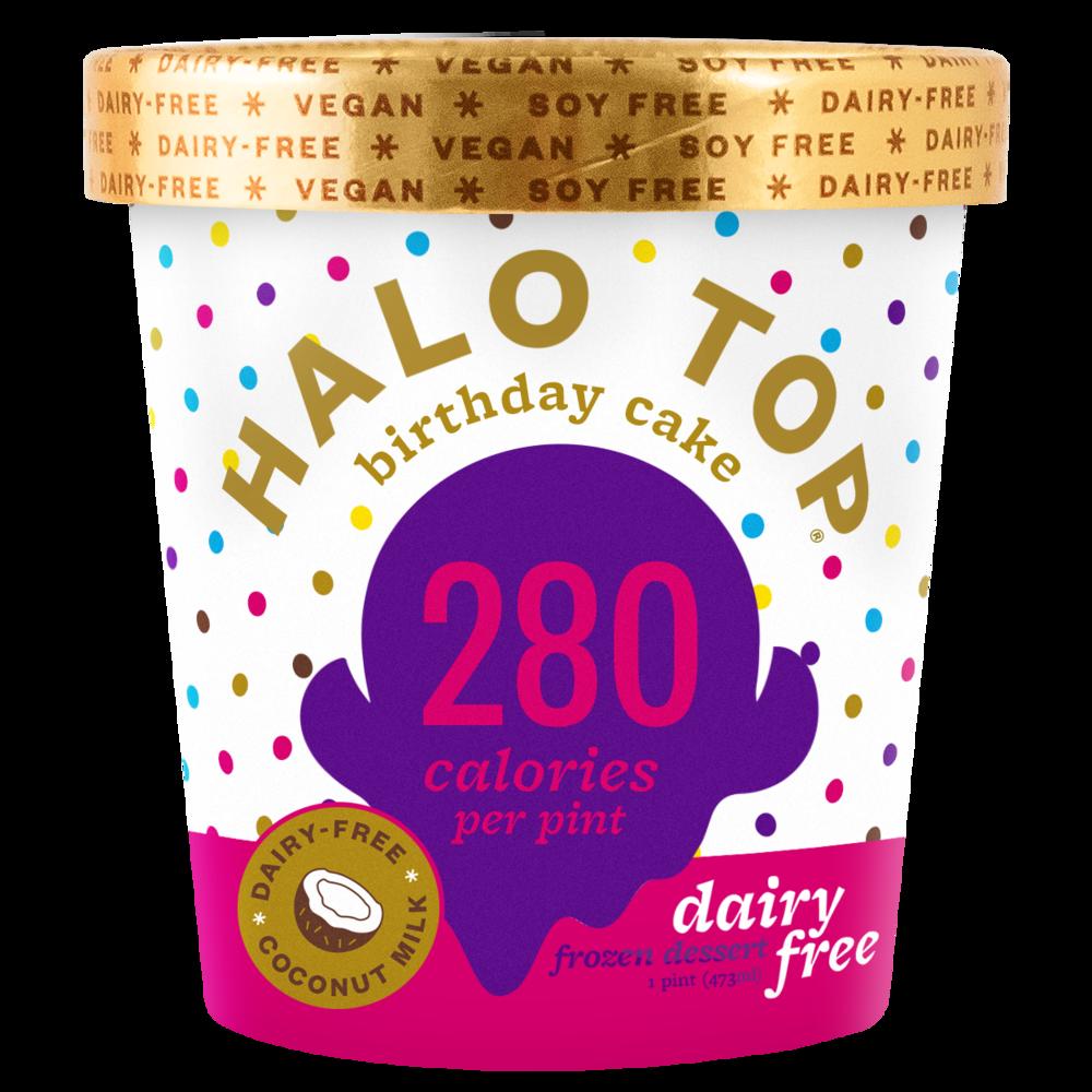 dairy-free birthday cake pint