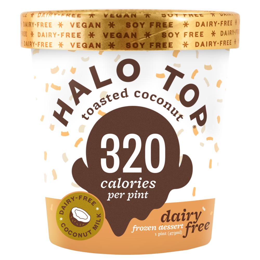 dairy-free toasted coconut pint