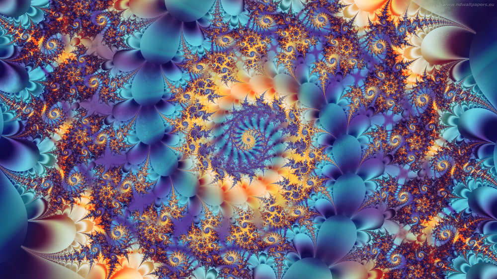 A mathematically-modelled fractal. It is 'holographic' in the sense that the pattern of the whole is found in each part. (Click to expand.)