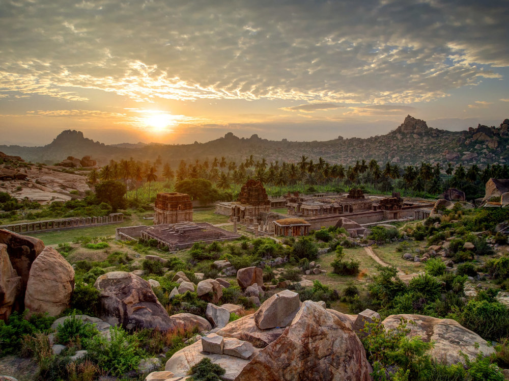 A small part of Hampi in NE Karṇātaka. No photo can capture the grandeur of its landscape.
