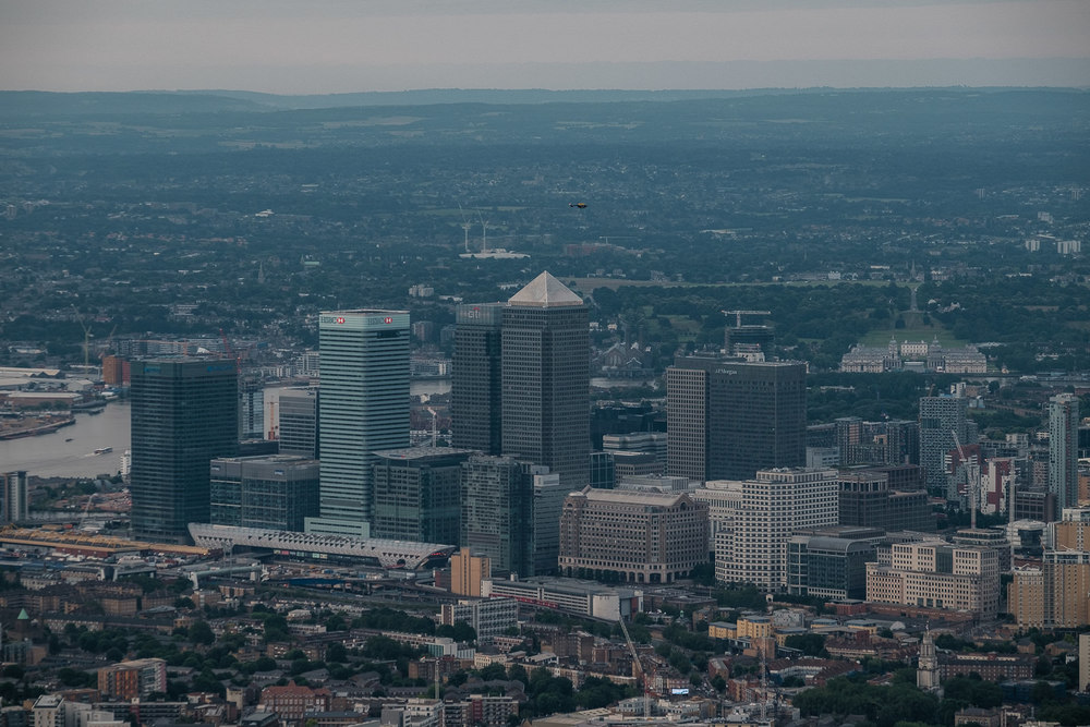 Canary Wharf and Greenwich. ISO320 50-140mm f5.6 1/250s