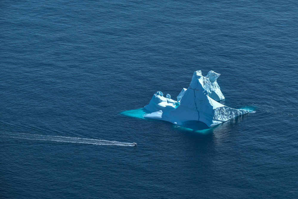 iceberg near Tasiilaq. the fishing boat gives you an idea of scale
