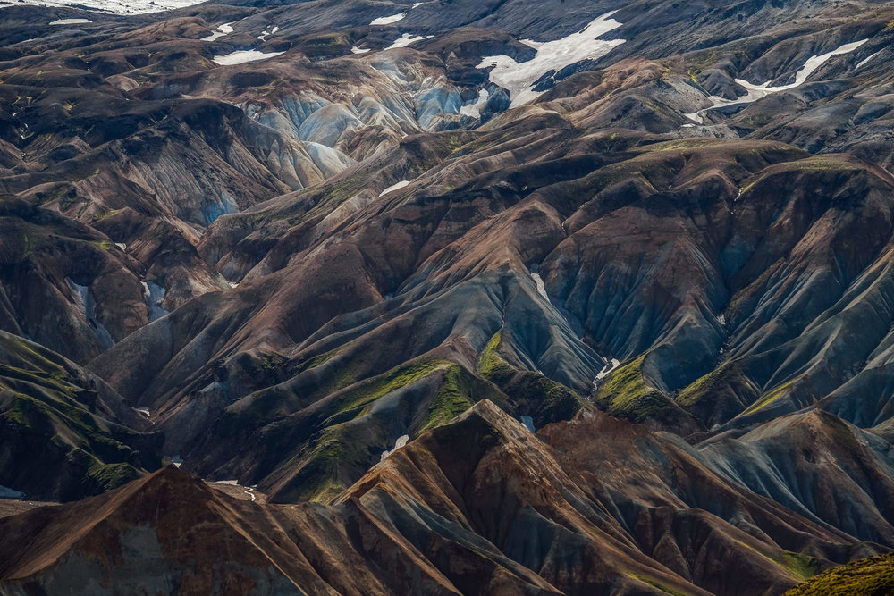 Beautiful colours and patterns of Landmannalaugar Highlands